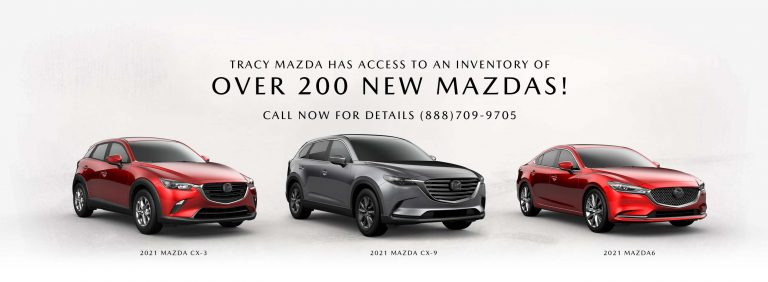 Access to an inventory of Over 200 New Mazdas!
